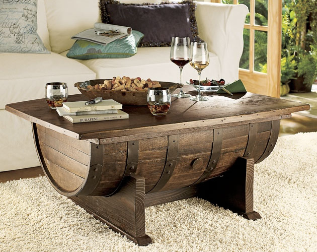 Whiskey Barrel Coffee Table