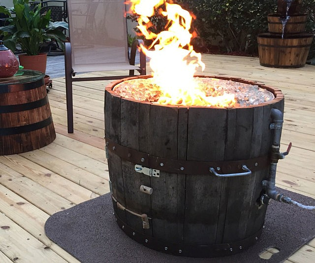 - Wine Barrel Fire Pit