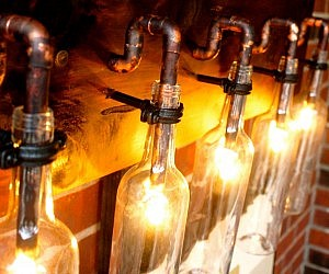 glass bottle lighting upcycle wine bottle light lamp