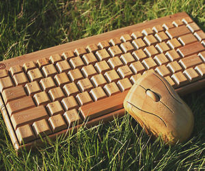 Wireless Wooden Keyboard &...