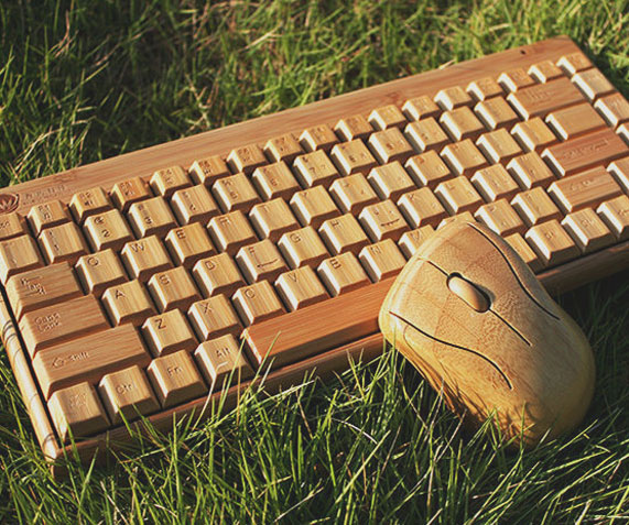 2d8796bd910 Wireless Wooden Keyboard & Mouse