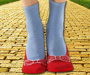 Wizard Of Oz Red Slipper Socks