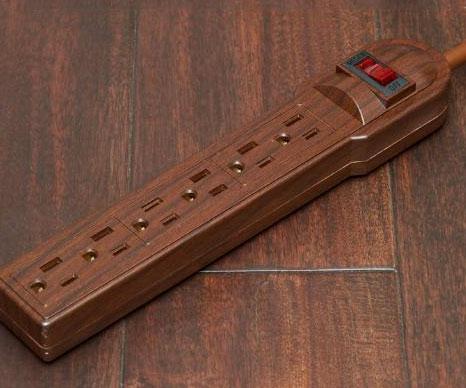 Brown power strip