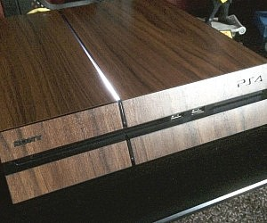 Wood Playstation 4 Decal