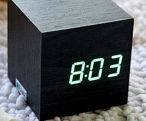 Wooden Block Alarm Clock