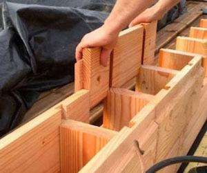 Wooden House Building Bricks