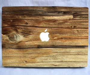 Wooden MacBook Decal