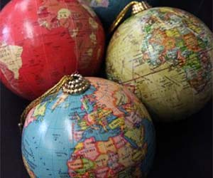 World Globe Tree Ornaments