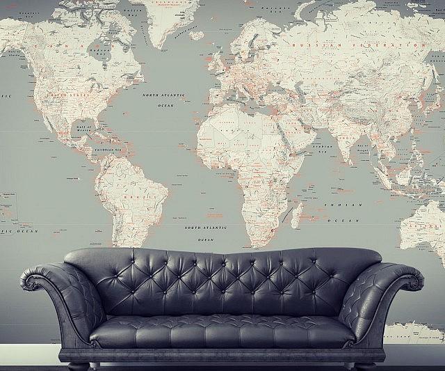 World map mural gumiabroncs Choice Image