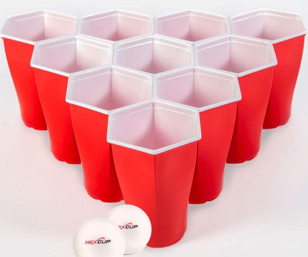 Hexagonal Shaped Beer Pong Cups