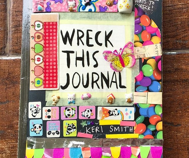 Book Cover Ideas We Heart It ~ Wreck this journal