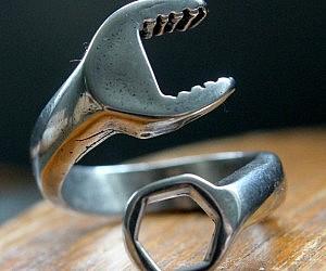 Fake Wedding Bands For Ring Bearer 91 Lovely Men us Wrench Ring