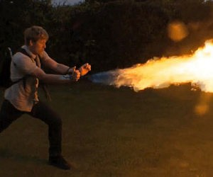 Wrist Mounted Flamethrowers