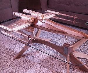 Luxury Star Wars X Wing Coffee Table