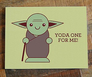 Yoda Pun Card