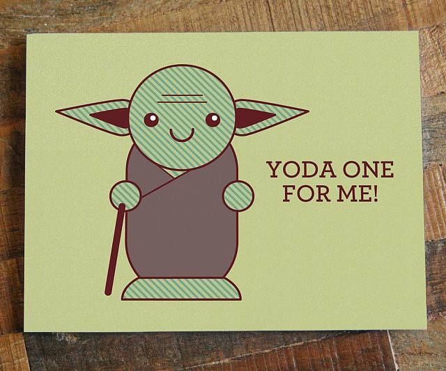 Schön Yoda Pun Card
