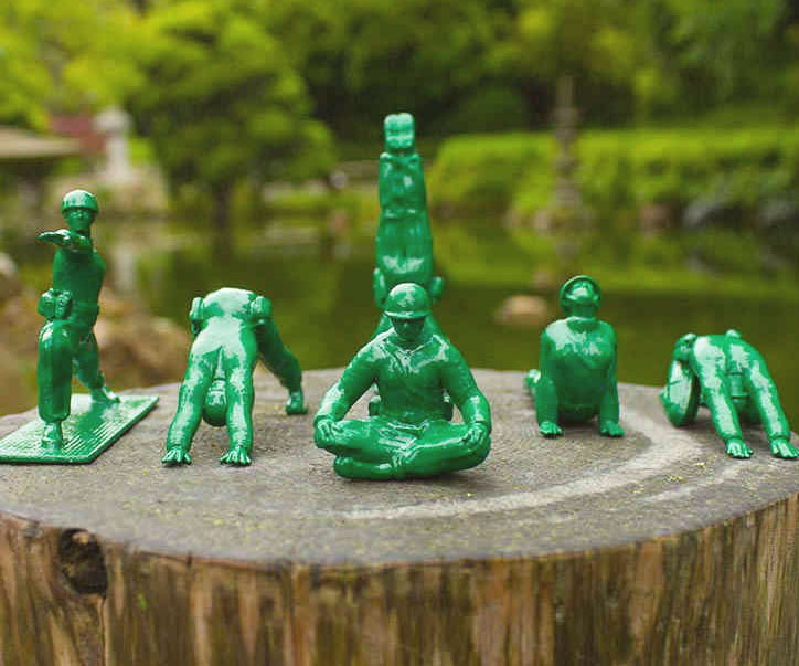 Yoga Pose Green Army Men Toys - coolthings.us
