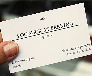 you suck at parking business cards - Photo Business Cards