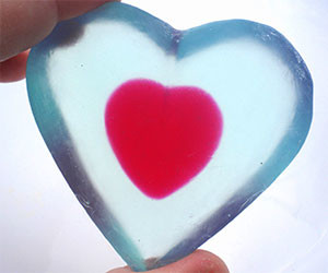 Zelda Heart Shaped Soap