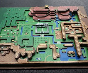 Legend Of Zelda 3D Paper Diorama