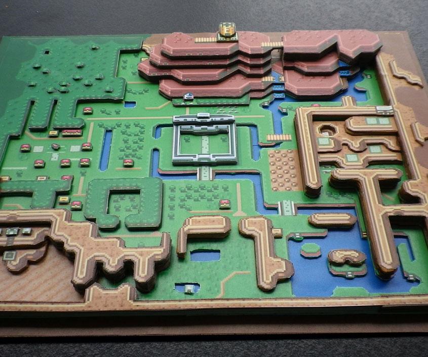 Legend Of Zelda 3D Paper Diorama