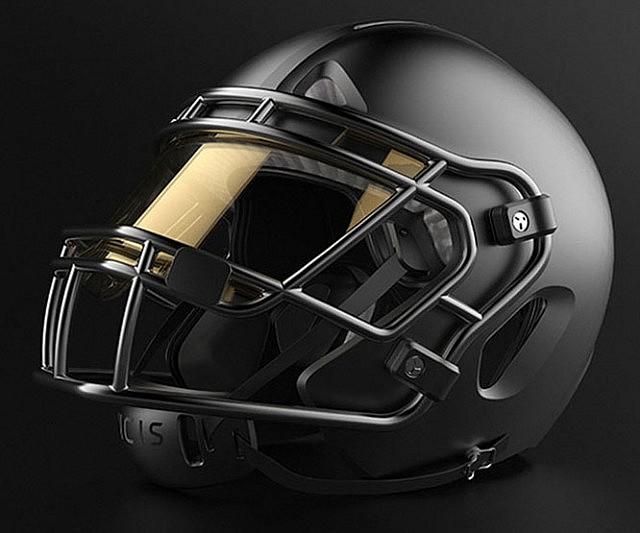 Impact Absorbing Football Helmet