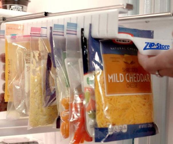 Ziploc Bag Slide Out Holder